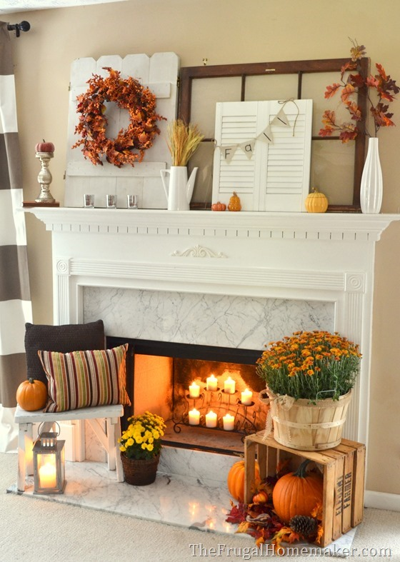 Mantle Decor 101: Take a Look at This Fall Fireplace 5