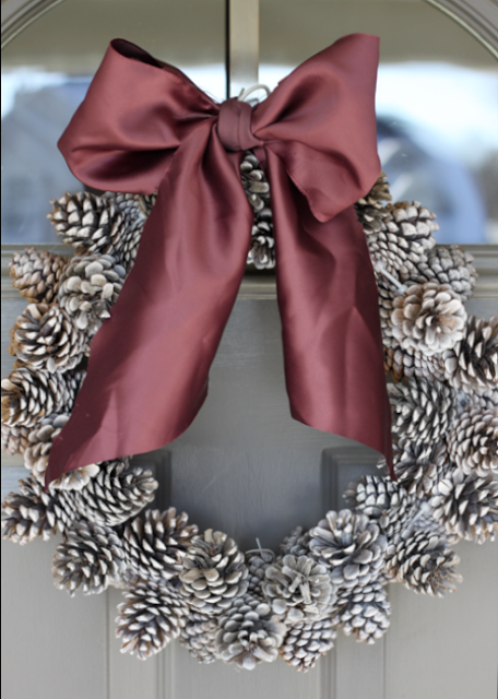 Holiday DIY: Easy Budget-Friendly Pine Cone Wreath christmas craft easy wire cheap9