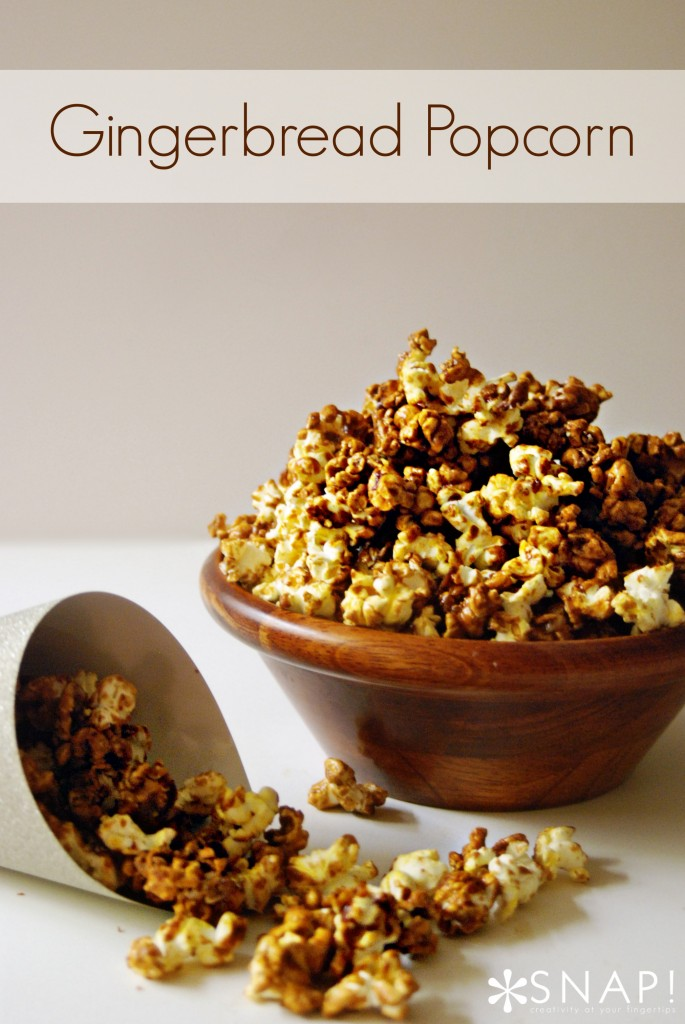 New Year's Eve Snacks: Gingerbread Butter Popcorn1