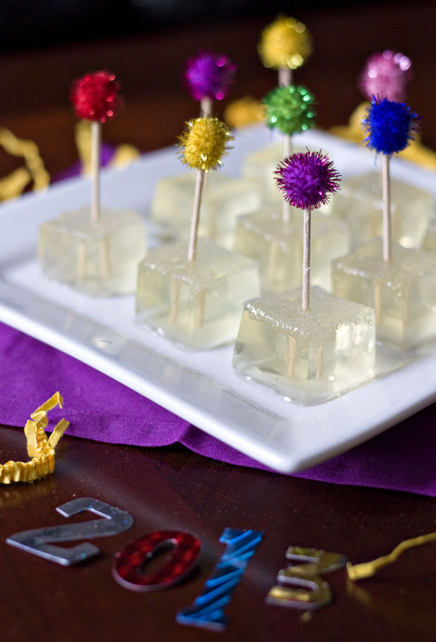 New Year's Sparkling Champagne Jello Shots1