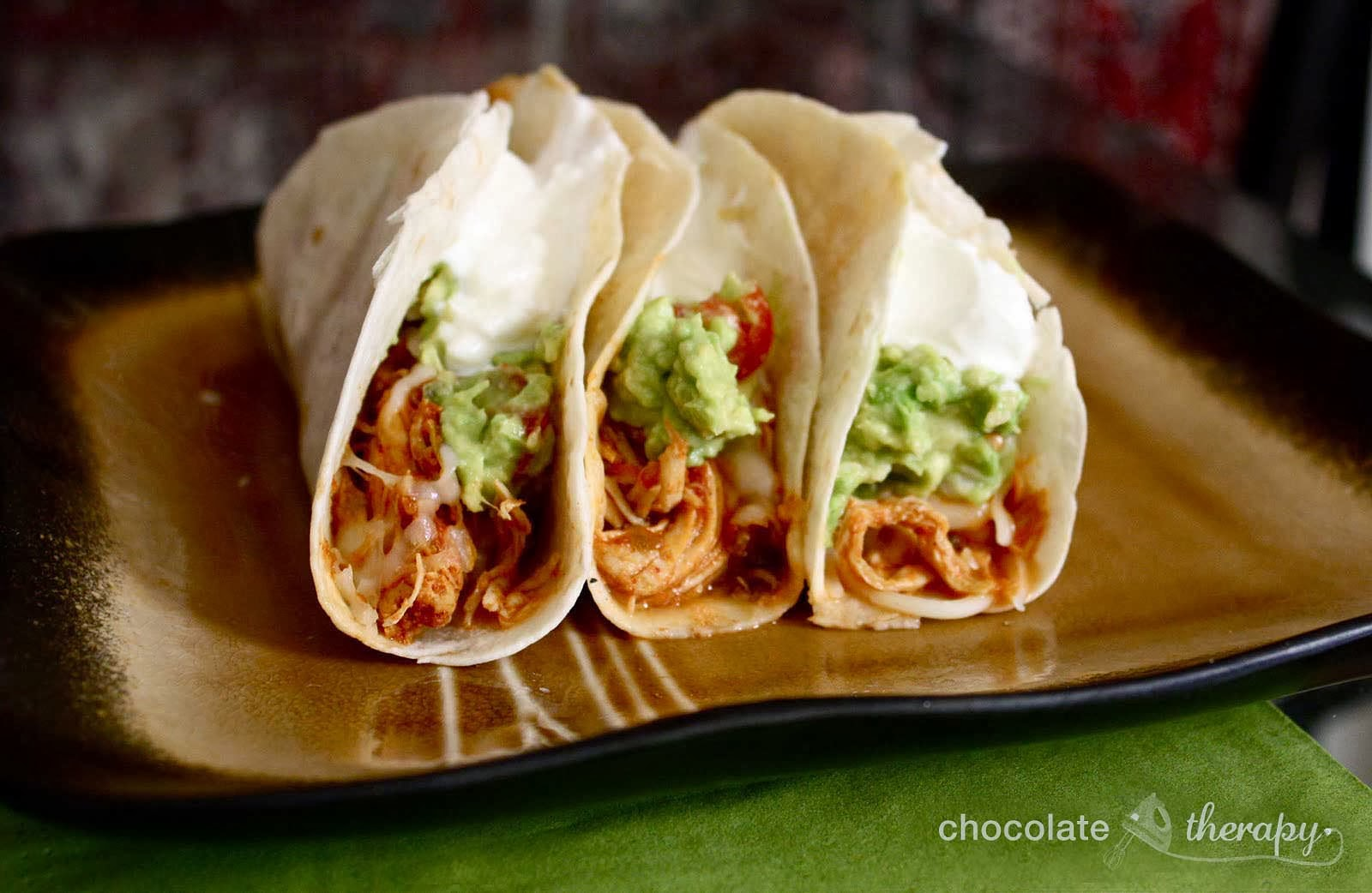 Taco Night: Crockpot Chicken Tacos With Only 3 Ingredients!1