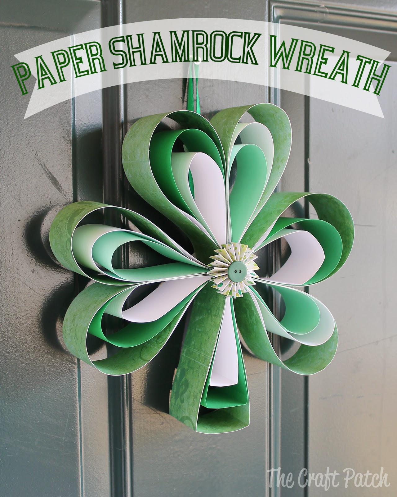 Dress Up Your Home For St. Patrick's Day by Making This Cute Wreath Out of Scrapbook Paper!1
