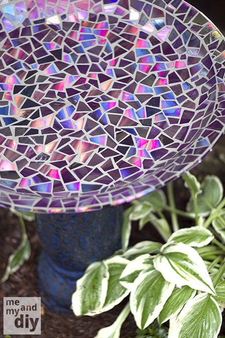 Give Your Old Birdbath a Makeover This Spring Using Old DVDs! 23