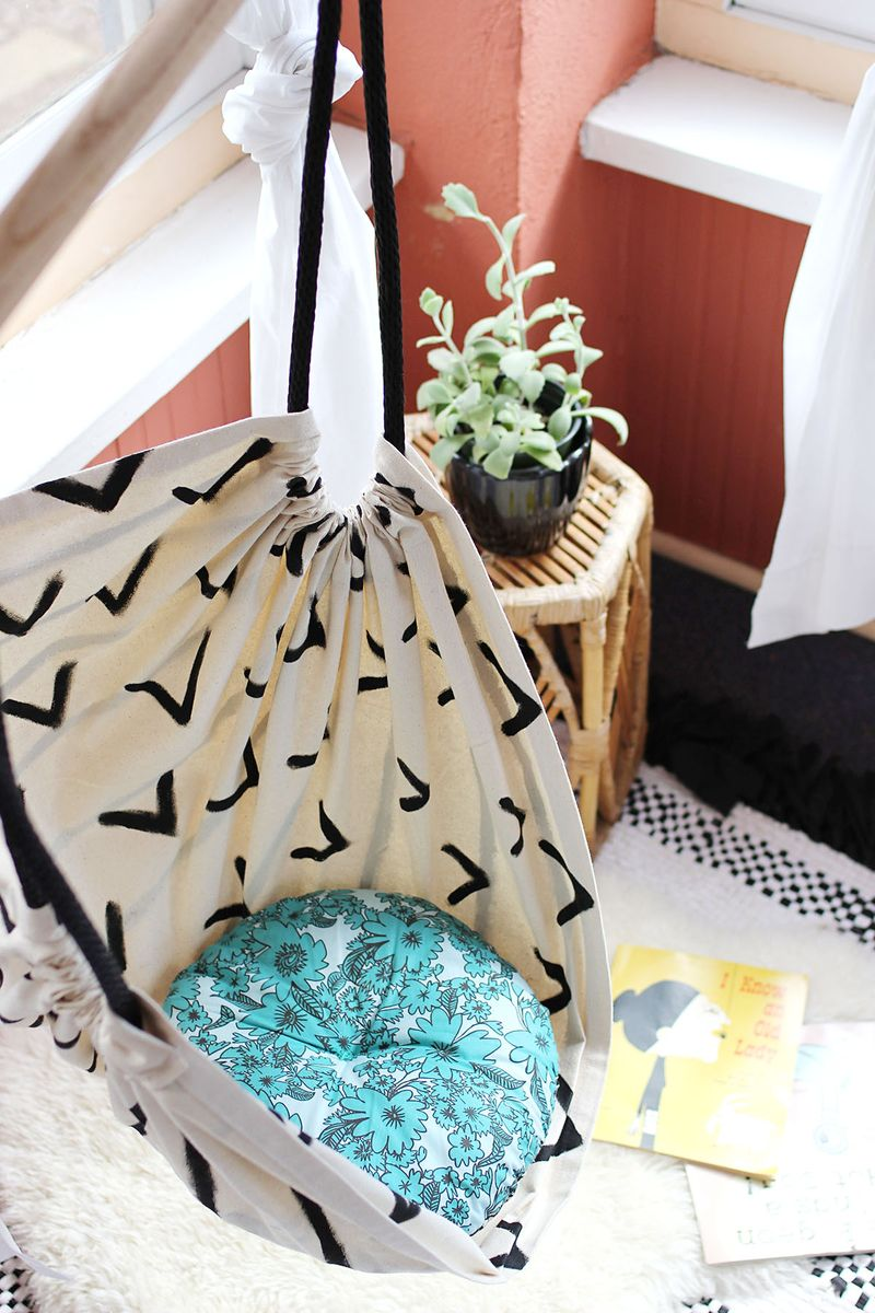 Tutorial: Make This Hammock Chair for Your Porch or Kid's Room!7