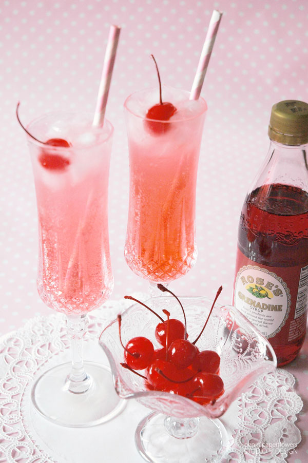 Valentine's Day Kid-Friendly Fizzy Shirley Temples 1