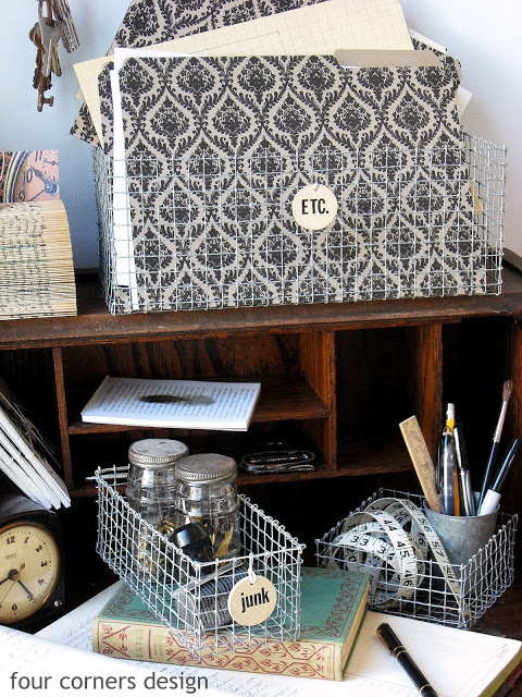 DIY: These Adorable Shabby Chic Wire Baskets are So Easy to Make, and They're Budget-Friendly!1