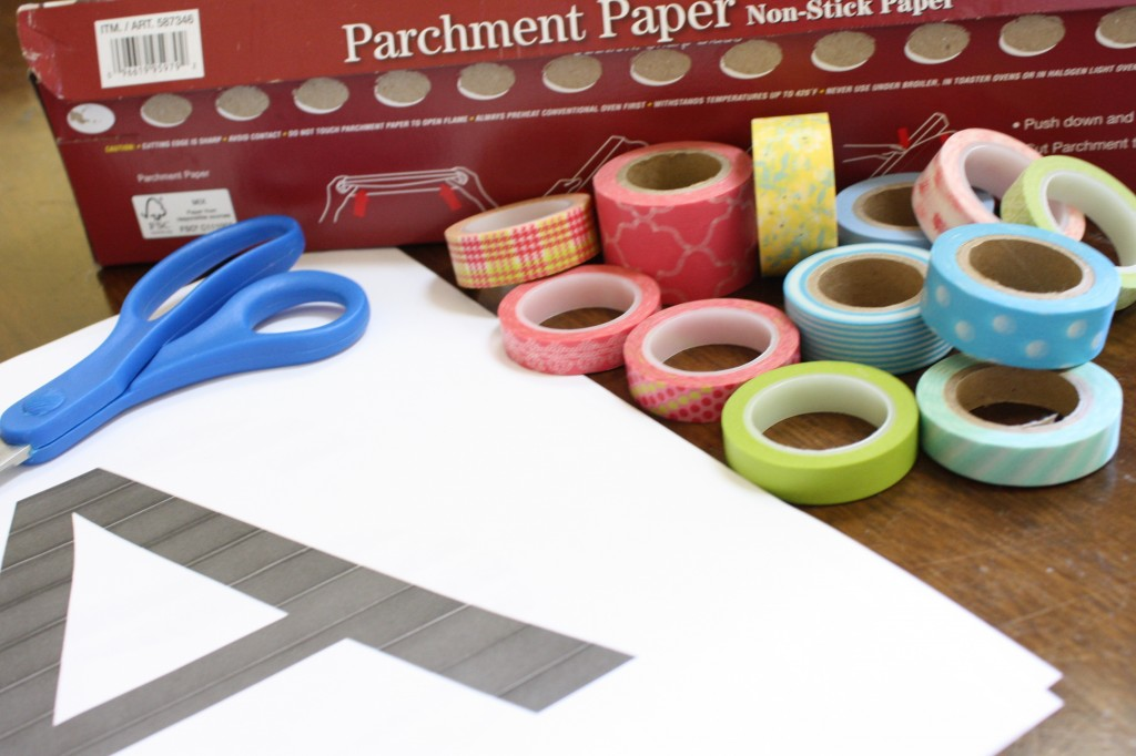 Budget Decorating: How to Make Your Own Customized Wall Decals Using Washi Tape!3