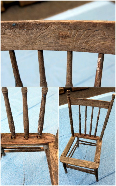 Gardening DIY: Turn a Thrift Store Chair Into a Cute Shabby Chic Inspired Planter! spring mother's day craft project gardening easy plants flowers gift present poem sugar hero cheap budget pinterest do it yourself garage sale3
