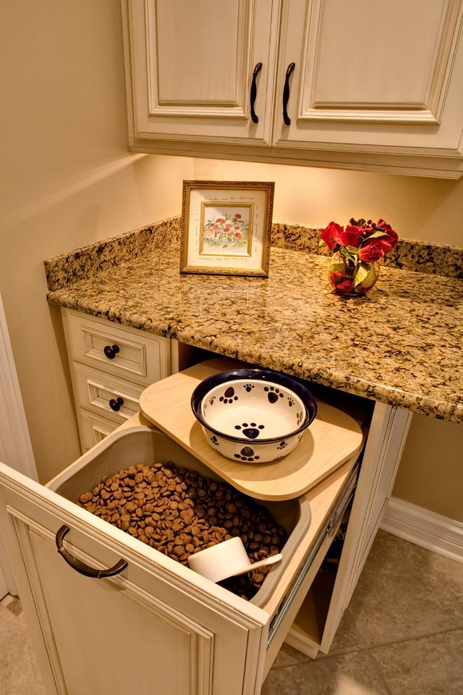 kitchen dog food drawer feeding station