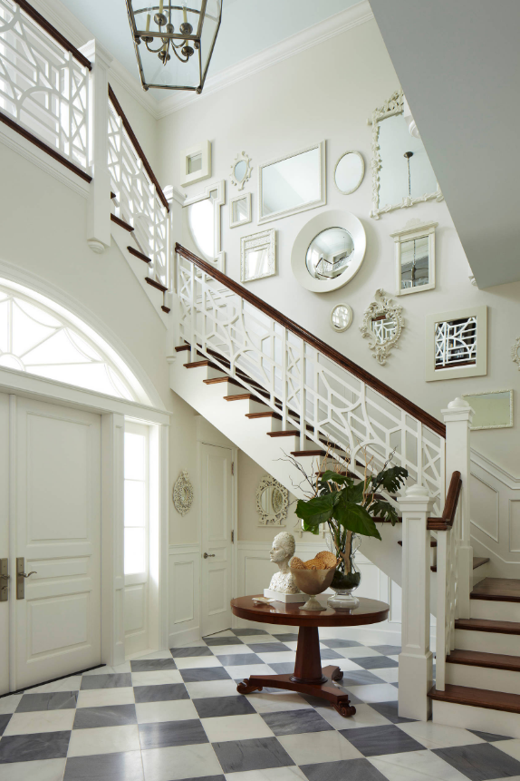 mirror collage staircase decorating ideas