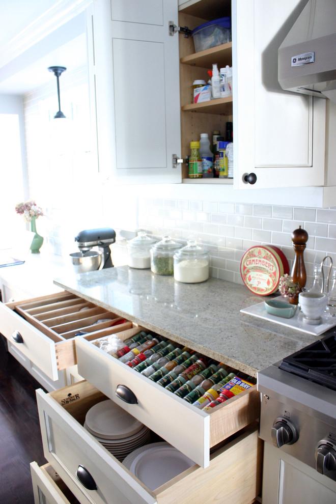 organized spice drawer