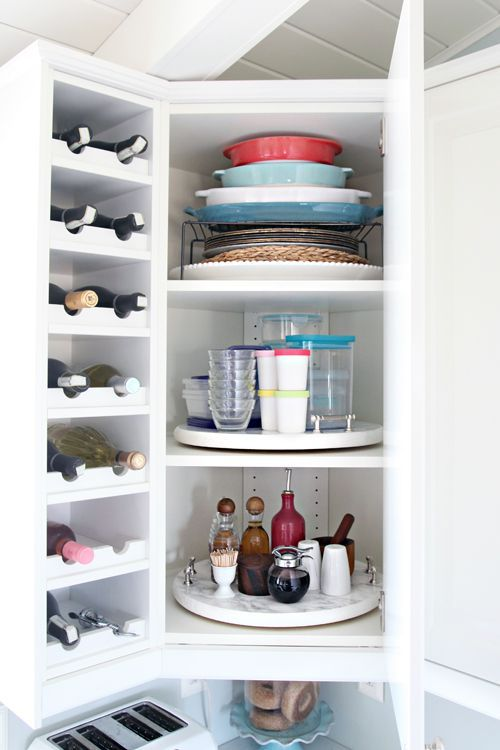kitchen organizing lazy susan cabinet ideas