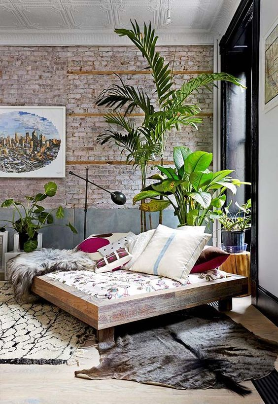 how to decorate with plants living room ideas