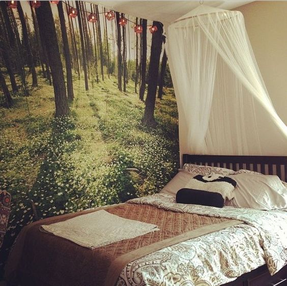 scenery wallpaper bedroom forest decorating ideas