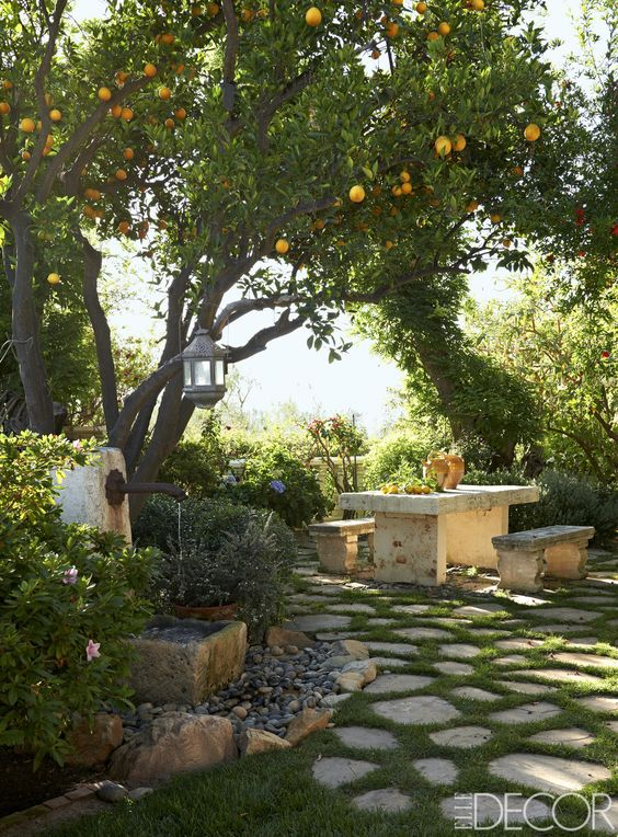 outdoor mediteranean landscaping decor