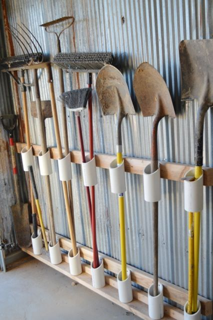 garage organizing shovles how to easy diy