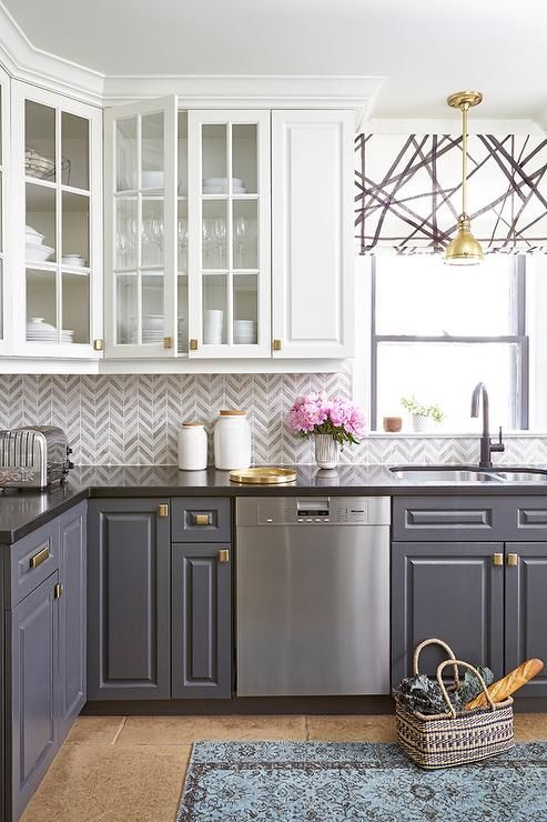 kitchen chevron backsplash decorating ideas