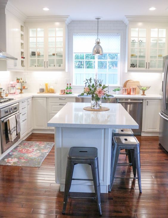 kitchen decorating ideas renovating hardwood floor