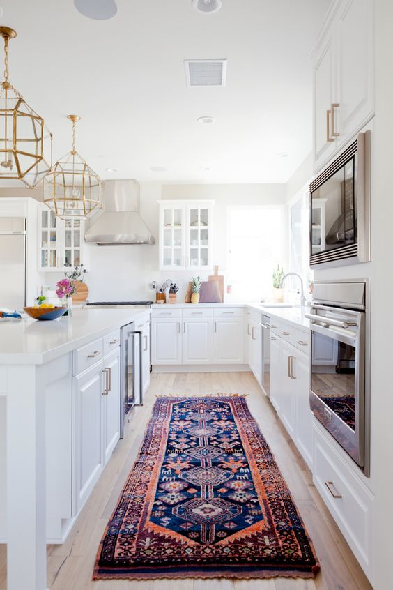 persian rug in the kitchen decorating ideas easy