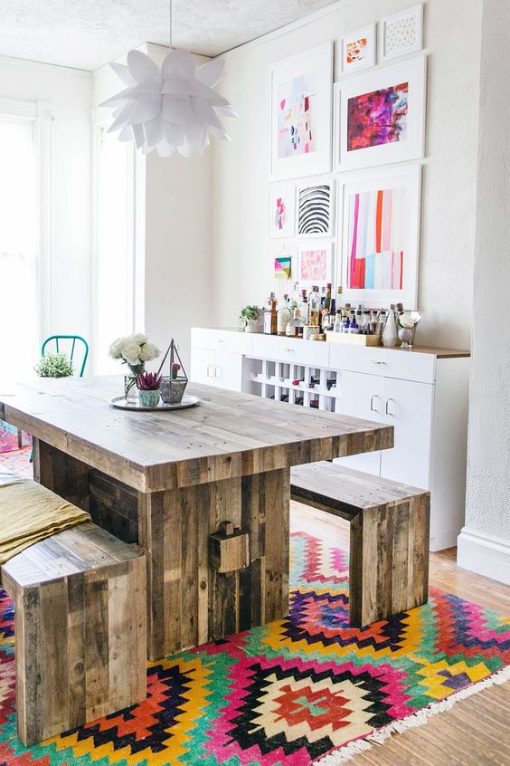 colorful decorating in the kitchen ideas bohemian