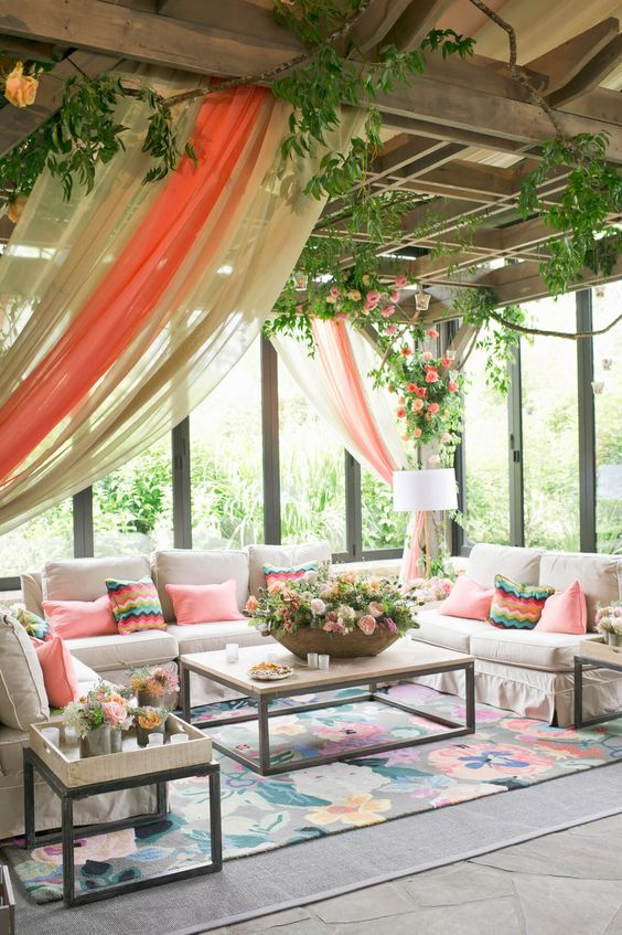 beautiful-patio-decorating-ideas-floral-outdoor-carpet