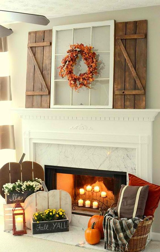 fall decorating living room ideas pumkins diy