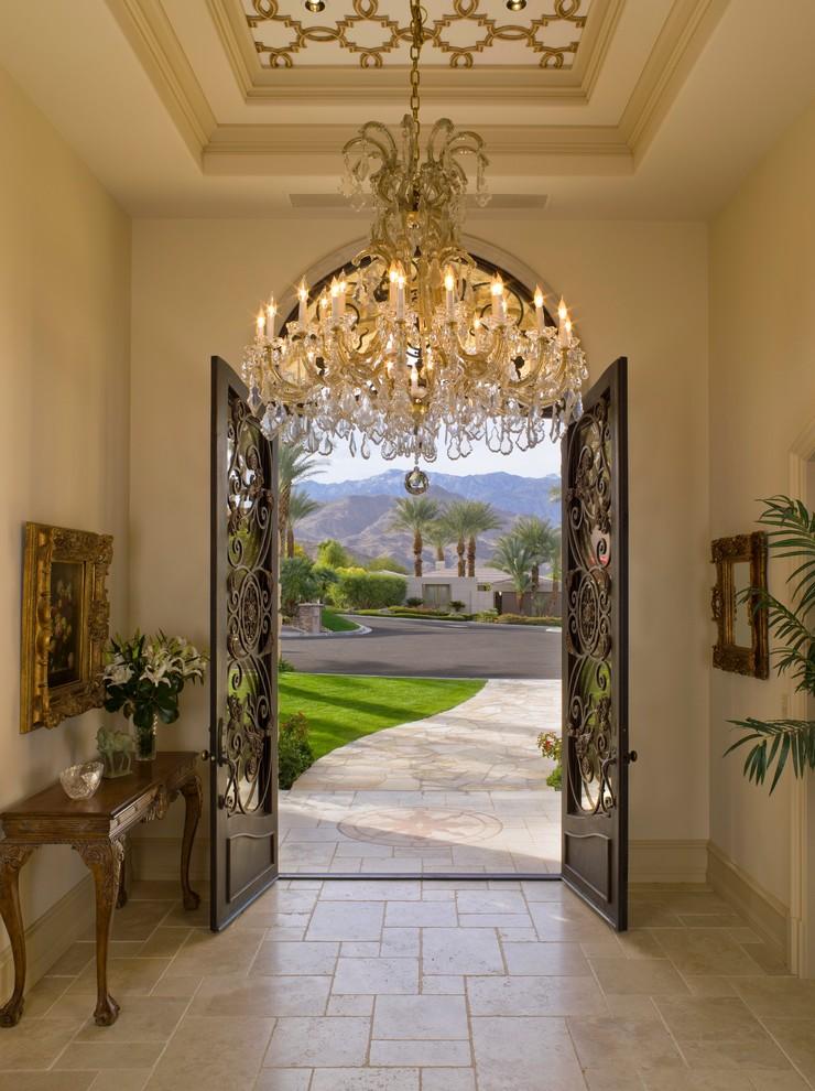 beautiful mediteranean entrance chandelier decor ideas