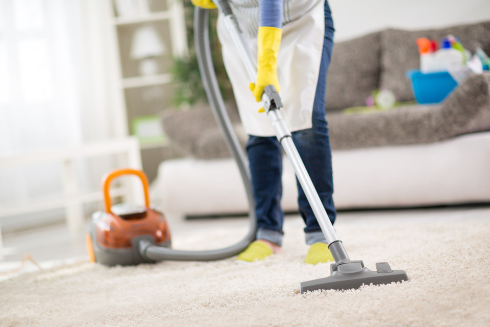cleaning a home for renting