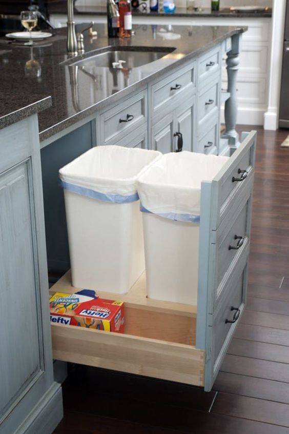easy kitchen trash ideas how to garbage cans