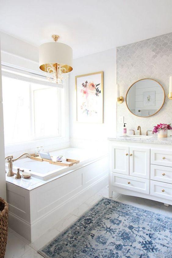 bathroom marble decorating ideas chandelier remodel