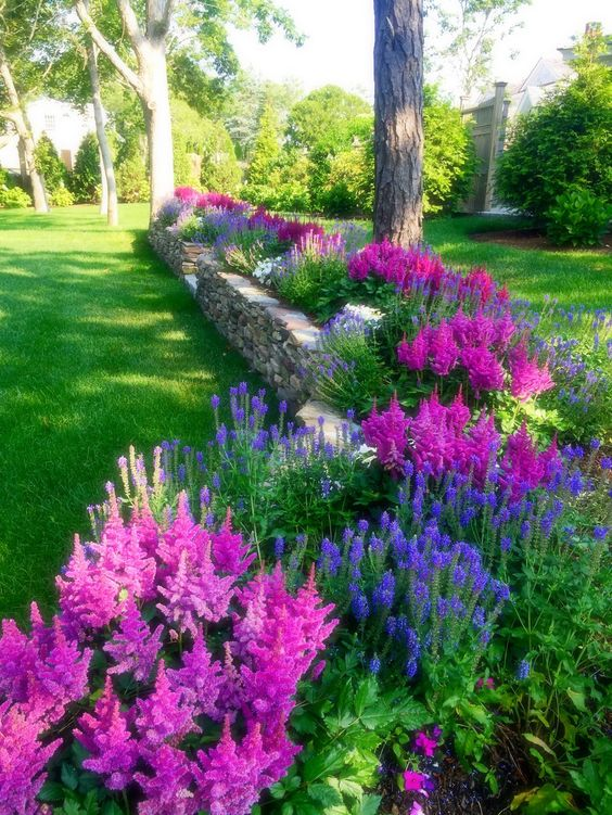 gorgeous floral backyard landscaping ideas
