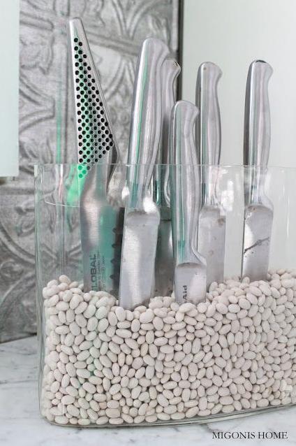 knife sand block diy idea kitchen storage ideas