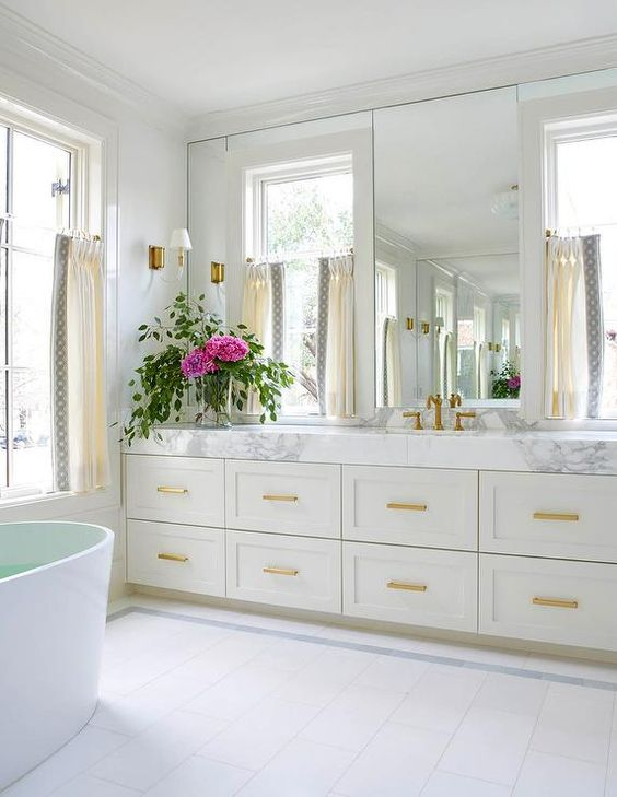 pretty bathroom reno ideas gold marble decorating