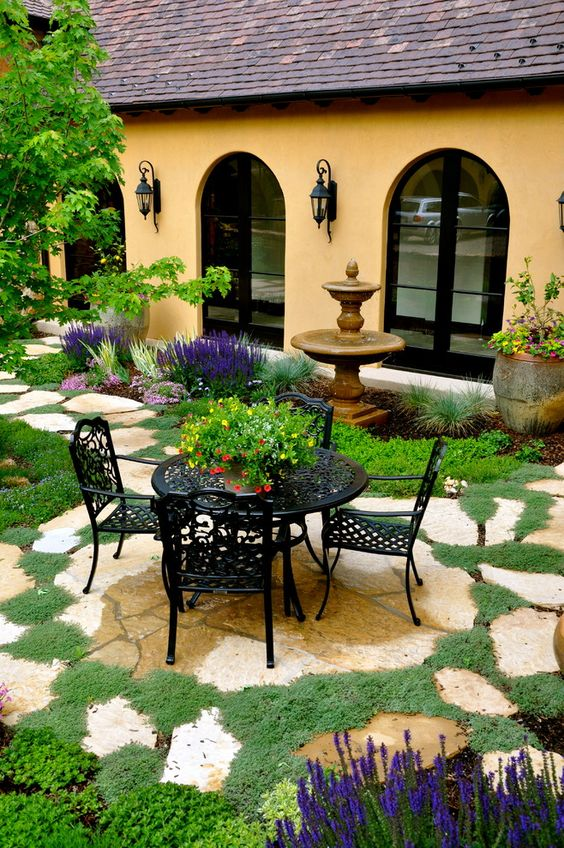 beautiful backyard patio mediterranean decor ideas
